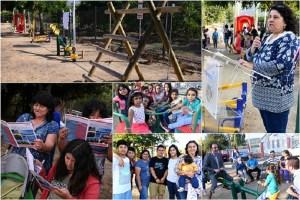 Transelec inaugura plaza para vecinos de Nogales