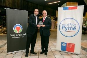 Parque Arauco es la primera empresa de su sector en recibir Sello Pro Pyme por pagar antes de 30 días a sus proveedores