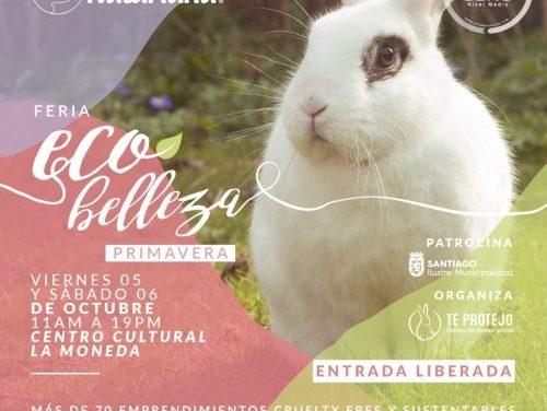 Feria Ecobelleza primavera reunirá a más de 80 stands de cosmética que no testea en animales
