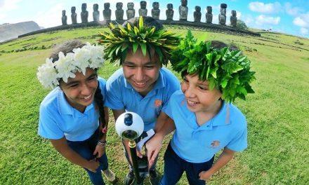 Estudiantes de Isla de Pascua conocen Punta Arenas gracias a la realidad virtual