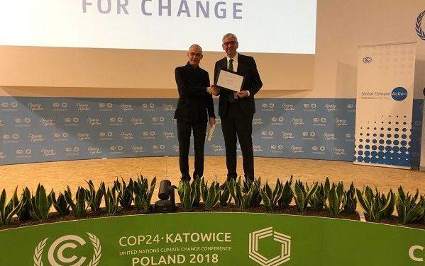 ONU Premia a Aguas Andinas en Cumbre de Cambio Climático en Polonia