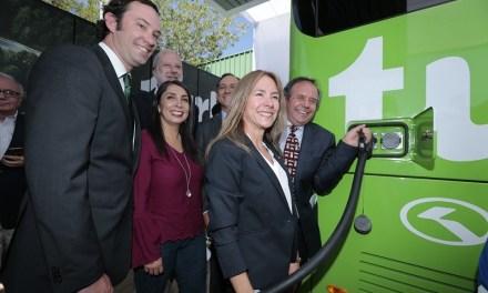 Turbus, junto a Copec y Vivipra, presentan el primer bus eléctrico interurbano de Chile y América