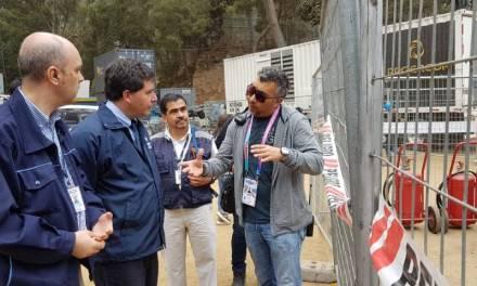 Inspeccionan las instalaciones eléctricas de la Quinta Vergara