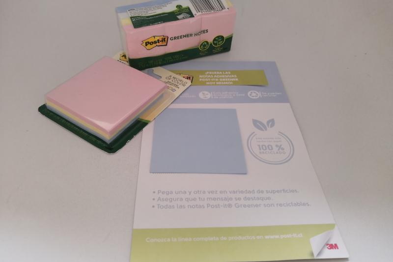 Papel reciclado y adhesivo 100% ecológico hecho en base a planta es la innovación de 3M en los Post-it Greener