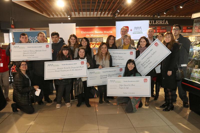 Fundación Descúbreme y SMU realizan entrega de recursos a proyectos ganadores del Fondo Descúbreme