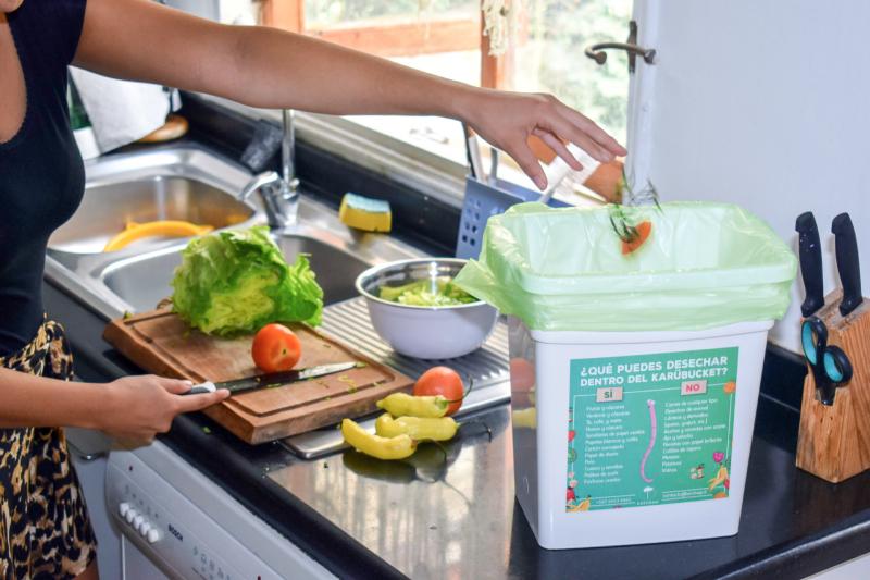 Karübag: recicla los desechos orgánicos para convertirlos en abono 100% orgánico.
