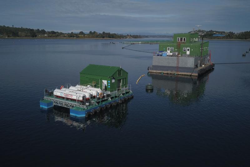 Gasco desarrolla sistema de generación de energía con gas licuado para centros de cultivos marinos