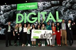 Baterías ecológicas a base de aloe vera ganan concurso de estudiantes Go Green in the City 2019 de Schneider Electric