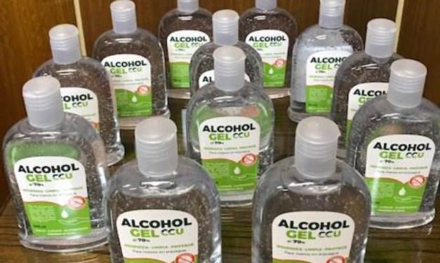 Alcohol gel originado en procesos productivos de CCU será entregado a Ministerio de Salud