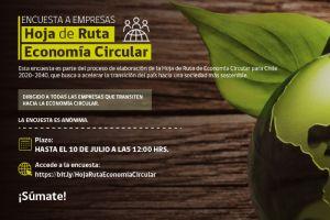 Participa en la Encuesta Empresas: proceso de elaboración de la Hoja de Ruta de Economía Circular para Chile 2020-2040