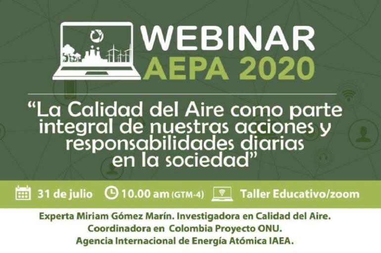 Experta ONU en calidad del aire participará en webinar organizado por AEPA
