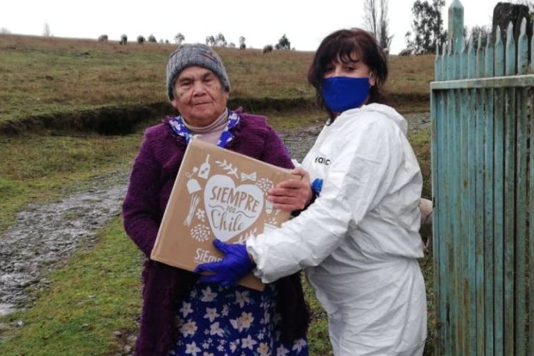 """Forestales distribuyen 3 mil cajas de alimentos de la campaña """"Siempre por Chile"""" en Araucanía"""