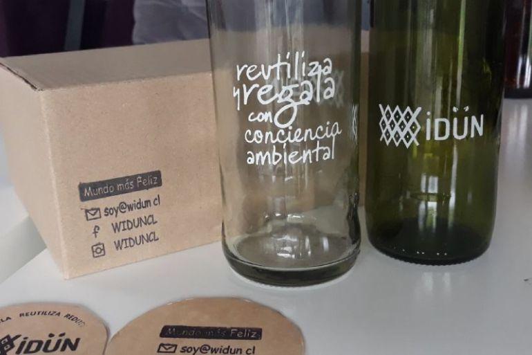 Widun: crean vasos de vidrio de botellas recicladas desde el sur de Chile