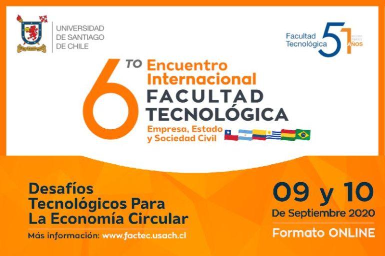 Facultad Tecnológica de la USACH realizará importante evento sobre Economía Circular