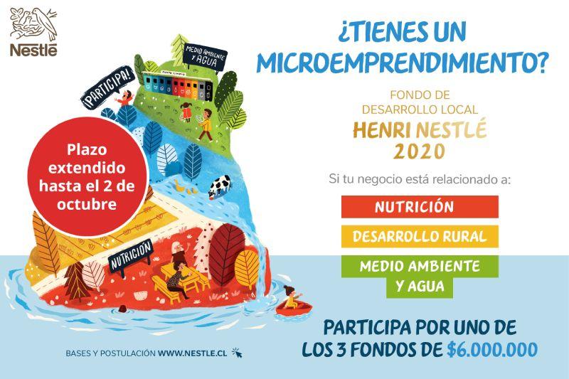 Nestlé Chile extiende plazo de postulación a fondo de financiamiento de microemprendedores
