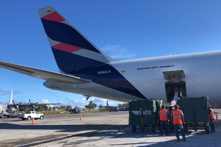 Avión Solidario de LATAM transportó más de 70 toneladas de ayuda humanitaria a Isla San Andrés por huracán IOTA