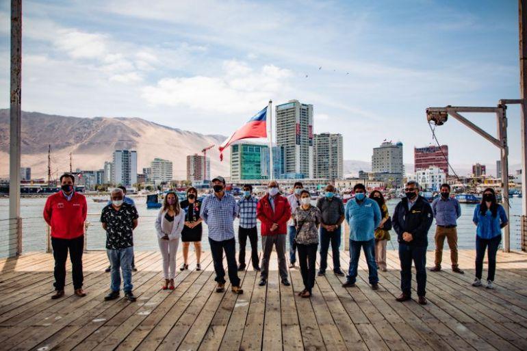 Subsecretario de Pesca, Ministerio de Medio Ambiente y FAO visitan caleta Riquelme para presentar avances de proyecto de adaptación al cambio climático
