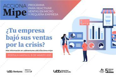 "UDD Ventures abre la convocatoria ""Acciona MIPE"""