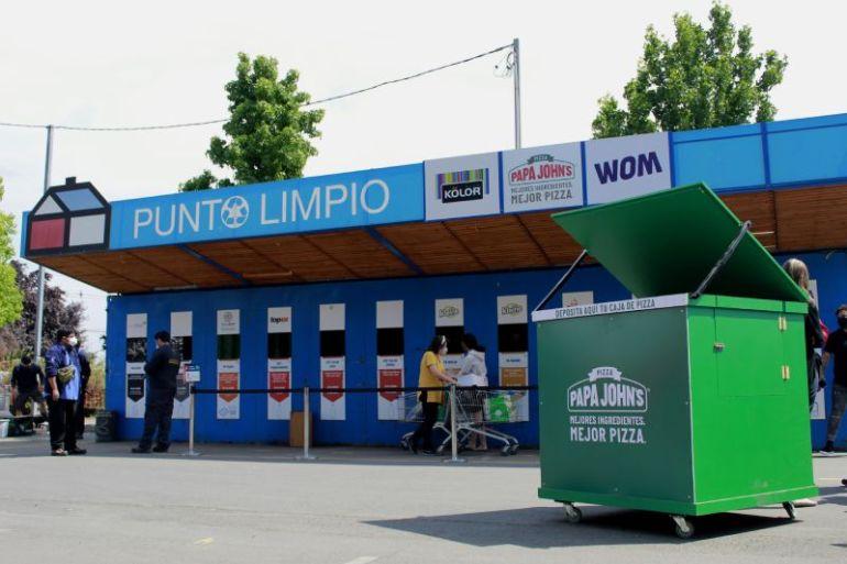 El compostaje y reciclaje de cajas de pizza llega a regiones de la mano de la Red Nacional de Puntos Limpios de Sodimac