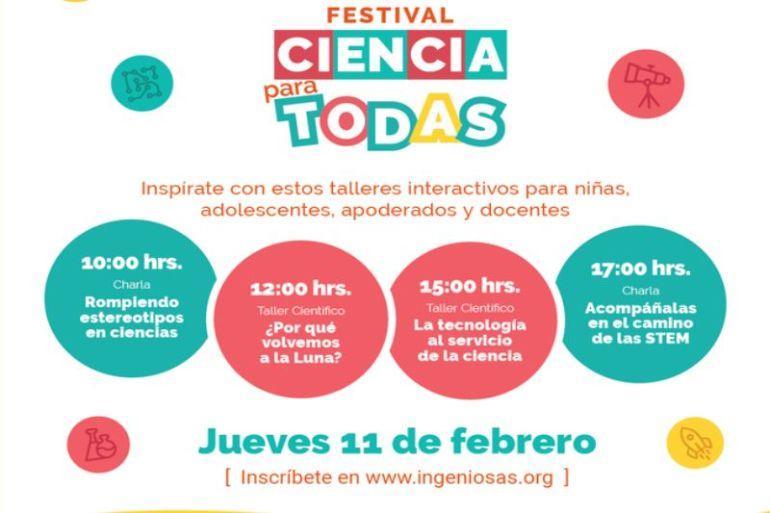 """Festival """"Ciencia Para Todas"""" celebrará el Día Internacional de la Mujer y la Niña en la Ciencia"""