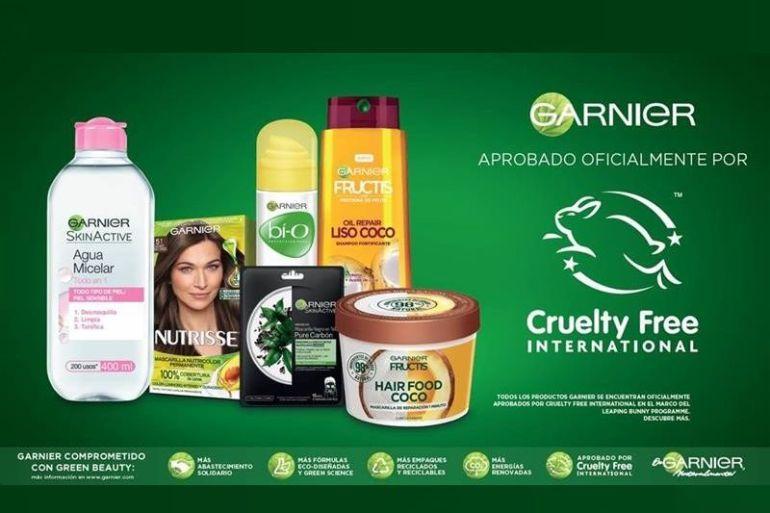 Garnier fue aprobado oficialmente por Cruelty Free International