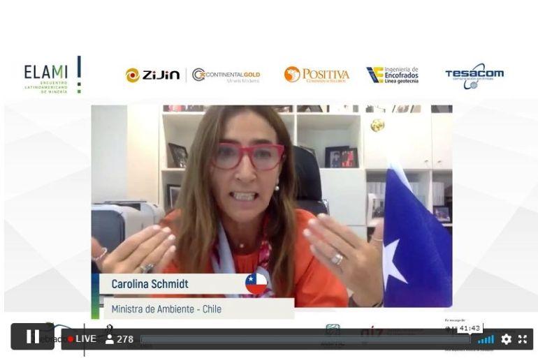 """Ministra Carolina Schmidt en ELAMI: """"Hoy la sustentabilidad es clave al momento de tomar decisiones de inversión"""""""