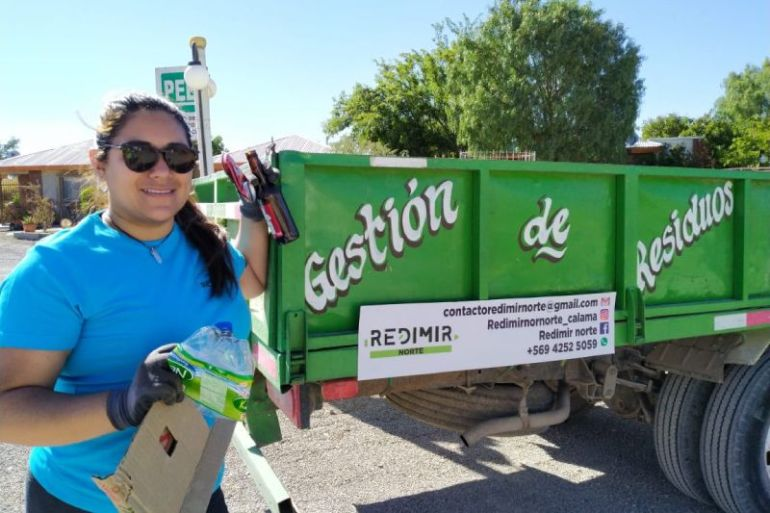 """Leslie Plaza, recicladora y dueña de Redimir: """"Podemos obtener sustentabilidad económica en el tiempo porque existe la necesidad del servicio"""""""