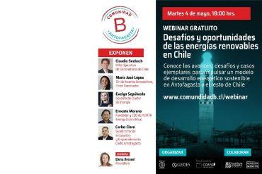 ¿Cuál es el potencial de las energías renovables en Chile? Expertos compartirán su análisis en webinar gratuito