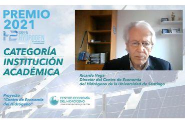 Centro de Economía del Hidrógeno recibió valioso premio en Foro Internacional de Hidrógeno Verde