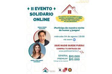 Fundación Padre Semería organizará Noche solidaria de humor y juegos por la infancia de nuestro país