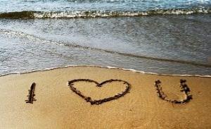 Imagenes de amor en la playa