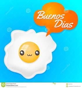 buenos-dias-good-morning-spanish-text-cute-fried-egg-balloon-anime-kawaii-style-52167215