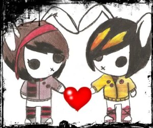 Imagenes de amor emos dibujos