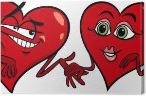 cuadros-en-lienzo-corazones-de-dibujos-animados-amor