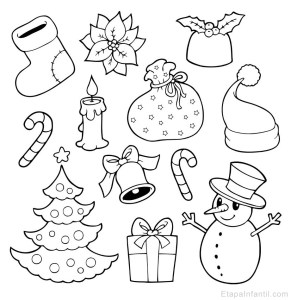 Dibujos-navideños-para-colorear