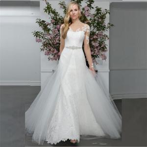 Alta-calidad-blanca-elegante-de-la-nueva-vestidos-novia-2016-primavera-Mermaid-pura-cuello-mangas-largas