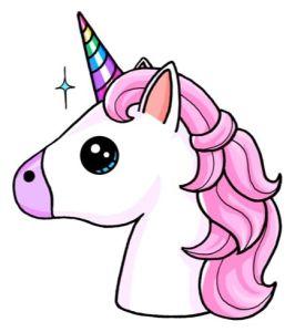 Dibujos kawaii de unicornios y arcoíris