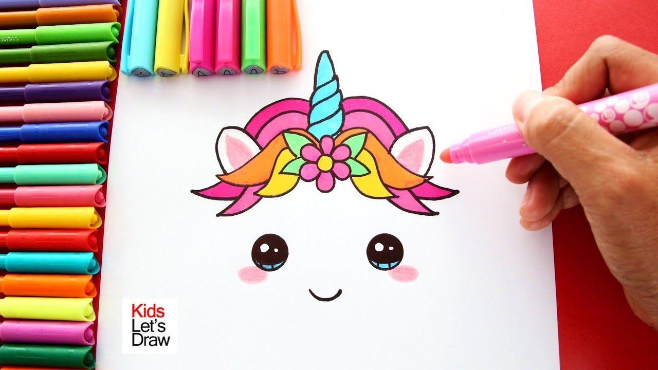 Libreta De Dibujo Mandala Unicornio Papel Blanco: Dibujos Kawaii De Unicornios Para Pintar