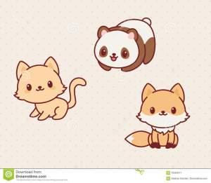 kawaii-animals-set-part-vector-illustration-cute-kitten-panda-fox-70560571