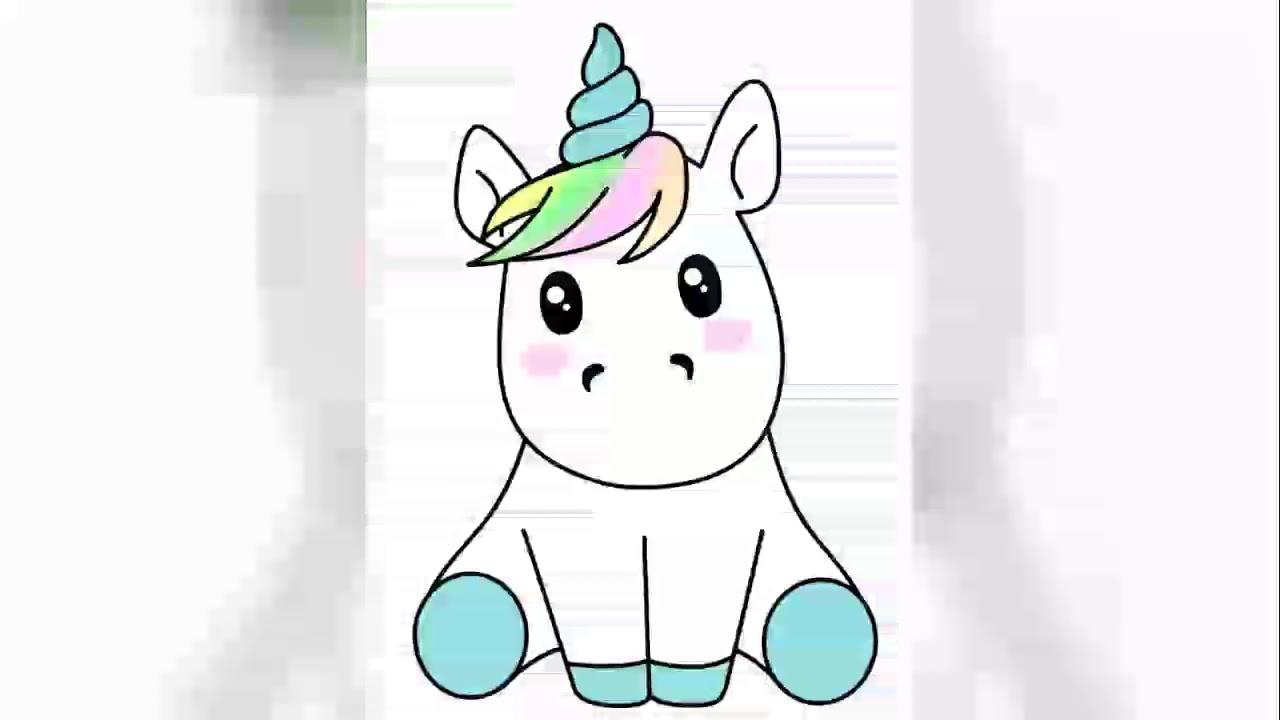 Dibujos De Unicornios Kawaii Para Calcar