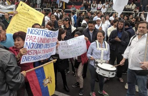 Grupo ciudadano rechazó protesta indígena y pide volver a la calma en Ecuador