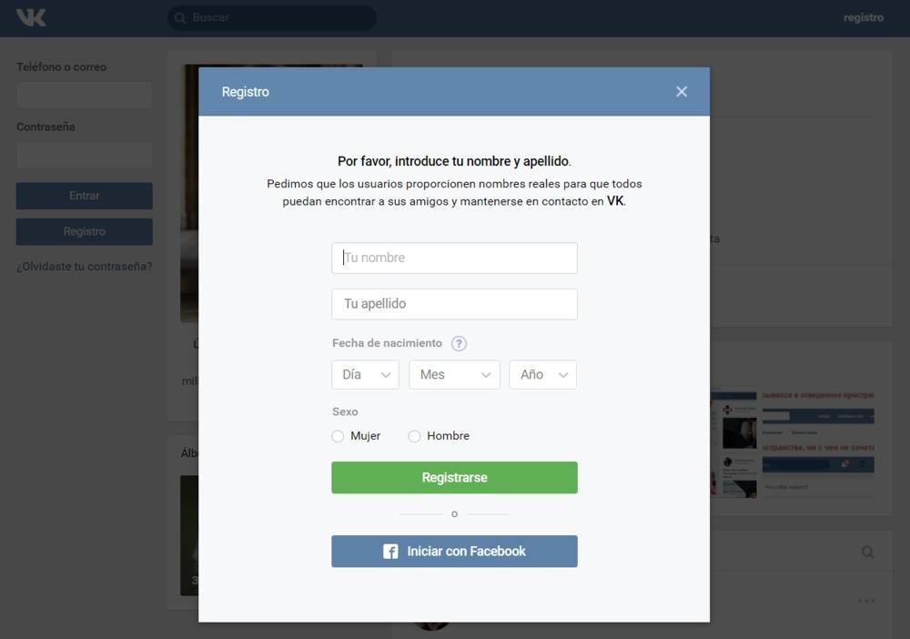 Facebook ruso mamada en Madrid