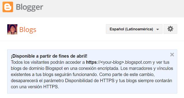 Blogger Conexión Segura HTTPS