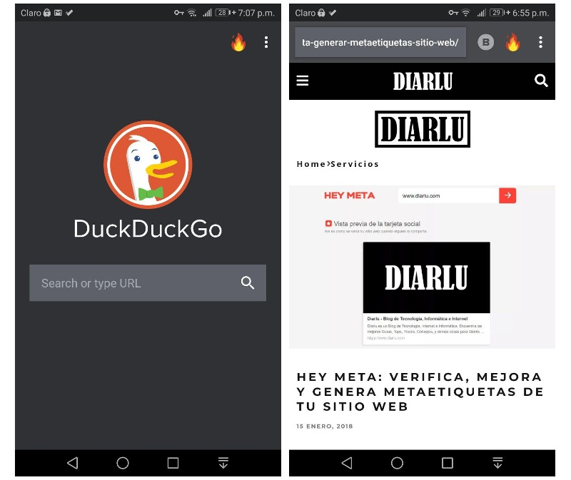DuckDuckGo Privacy Browser Navegador móvil