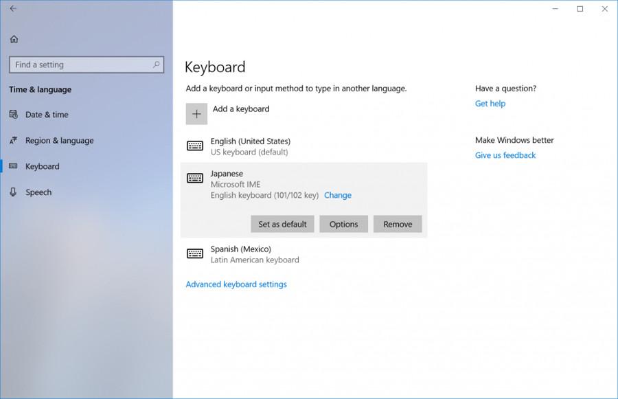 Configuración de teclado Redstone 4