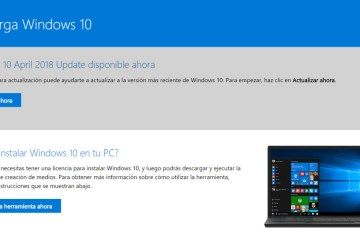 descargar Windows 10 April 2018 Update
