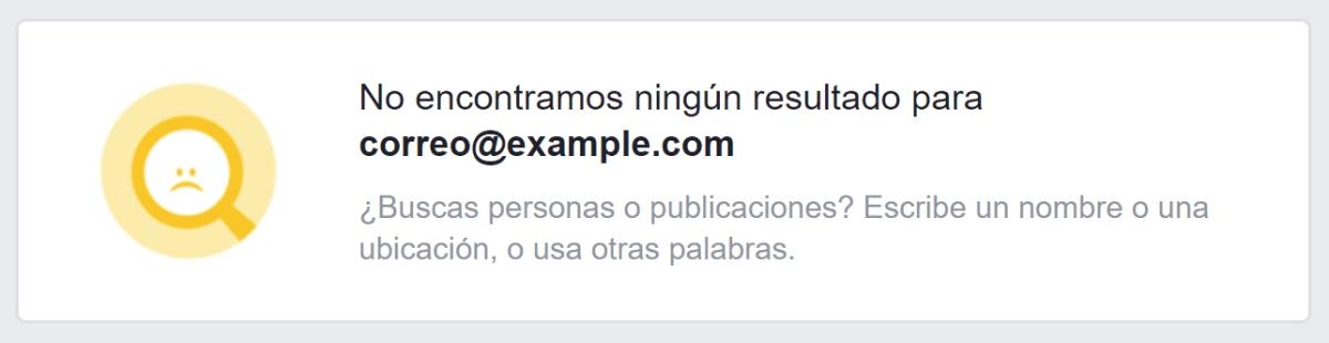 buscar perfiles de Facebook por correo electrónico
