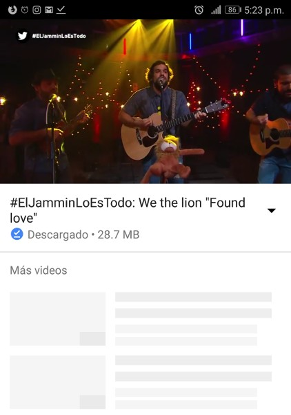 Videos offline en Youtube Go