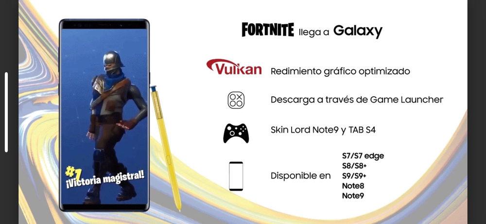 Fortnite para Android Samsung Galaxy