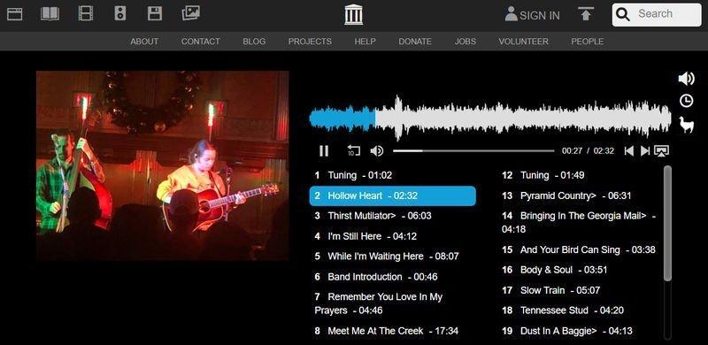 Live Music Archive, grabaciones de conciertos en vivo